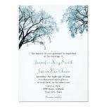 Pastel Blue Trees - Wedding Invitations