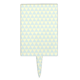 Pastel Blue Triangle Pattern Cake Topper
