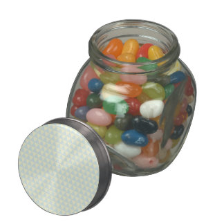 Pastel Blue Triangle Pattern Glass Candy Jar