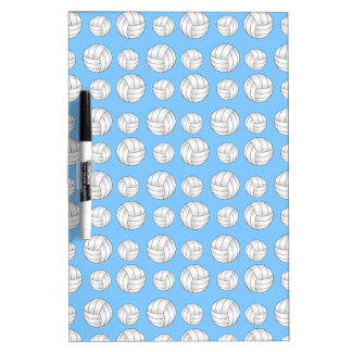Pastel blue volleyball pattern dry erase board