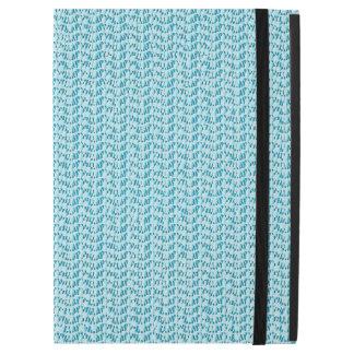 """Pastel Blue Weave Look Pattern iPad Pro 12.9"""" Case"""