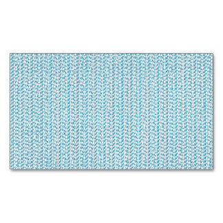 Pastel Blue Weave Look Magnetic Business Cards