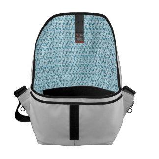 Pastel Blue Weave Mesh Look Courier Bag