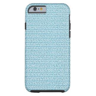 Pastel Blue Weave Pattern Image iPhone 6 Case