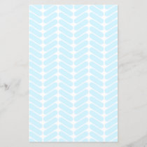 Pastel Blue Zigzag Pattern inspired by Knitting.