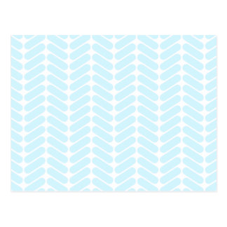 Pastel Blue Zigzag Pattern inspired by Knitting. Postcard
