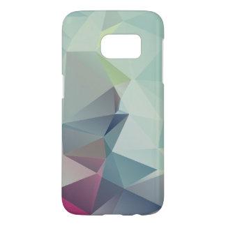 Pastel Blues Abstract Pyramid Art Samsung Galaxy S7 Case