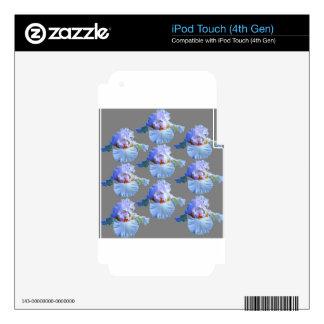 PASTEL BLUISH-WHITE IRIS GARDEN iPod TOUCH 4G SKIN