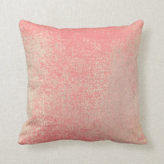 Pastel Blush Gold Mint Pink Rose Painting Coral Throw Pillow
