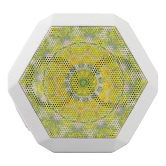 PASTEL BOHEMIAN KALEIDOSCOPIC GEOMETRIC MANDALA WHITE BLUETOOTH SPEAKER