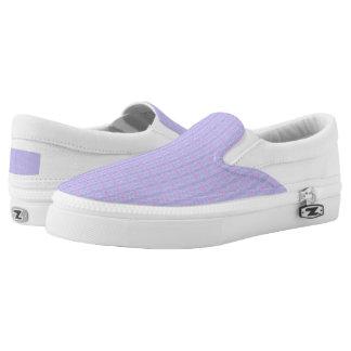 Pastel Braided Stripes Printed Shoes