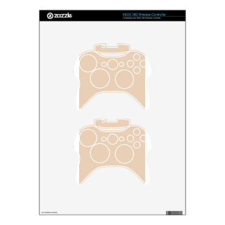 Pastel Brown 2 Xbox 360 Controller Skins