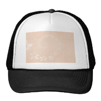 Pastel Brown Abstract Flowers Hat