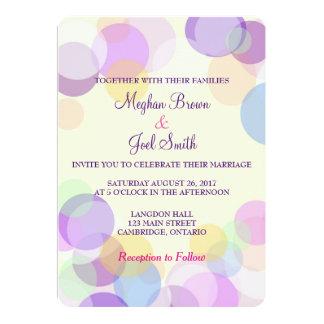 Pastel bubble wedding invitation