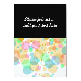 Pastel Bubbles Circles in Pastels Card