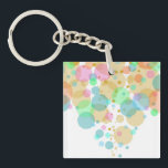 "Pastel Bubbles Circles in Pastels Keychain<br><div class=""desc"">A fun and simple design I created using circles in varying transparency and colors.</div>"