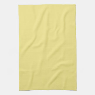 Pastel butter yellow background ready to customize hand towels