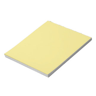 Pastel butter yellow background ready to customize notepad