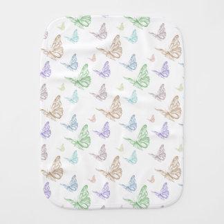 Pastel Butterflies Baby Burp Cloth