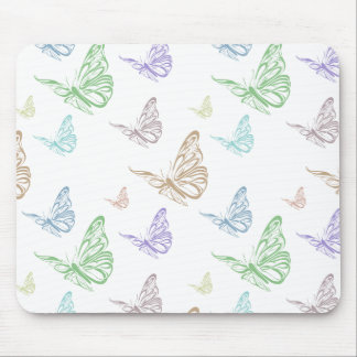 Pastel Butterflies Mousepad