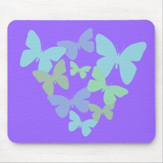 Pastel butterflies mousepads