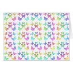 Pastel Butterflies Swirl Pattern Card