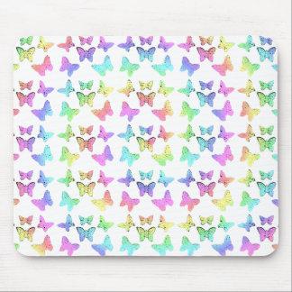 Pastel Butterflies Swirl Pattern Mousepads