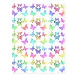 Pastel Butterflies Swirl Pattern Postcards
