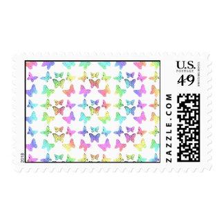 Pastel Butterflies Swirl Pattern Stamp