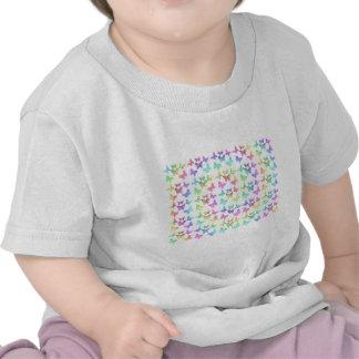 Pastel Butterflies Swirl Pattern T-shirts