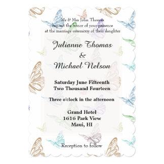 Pastel Butterflies Wedding Card