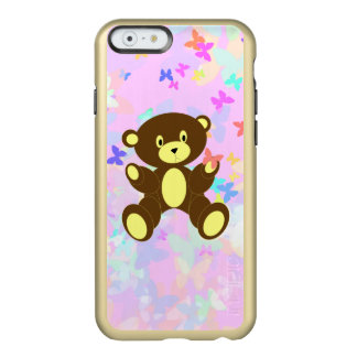 Pastel Butterfly Background With Brown Bear Incipio Feather Shine iPhone 6 Case