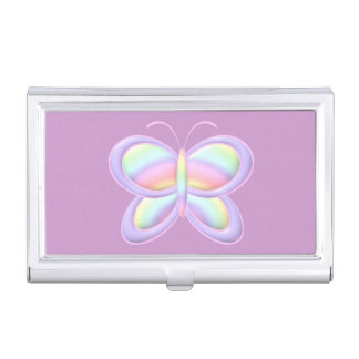 Pastel Butterfly Business Card Case
