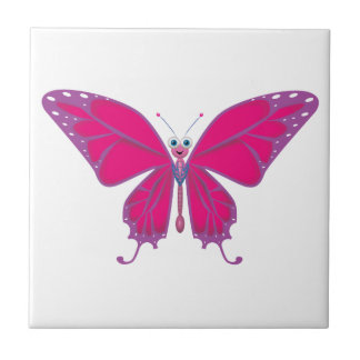 Pastel Butterfly Ceramic Tile