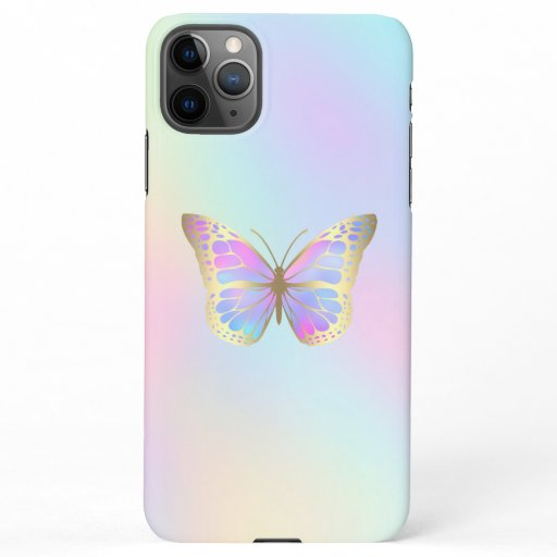 pastel butterfly design iPhone 11Pro max case