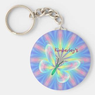 Pastel butterfly keychain