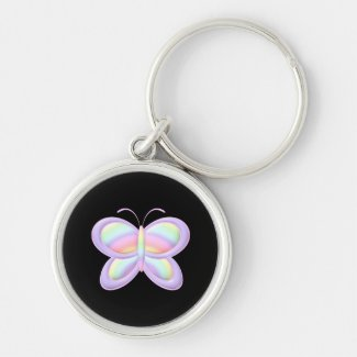 Pastel Butterfly Keychains