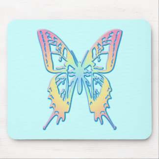 Pastel Butterfly Mouse Pad
