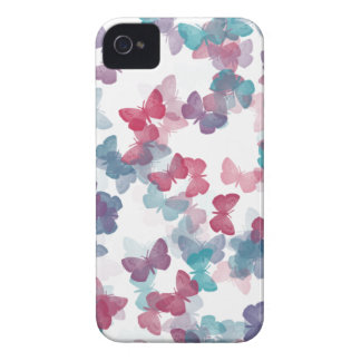 Pastel Butterfly Pattern iPhone 4 Cases
