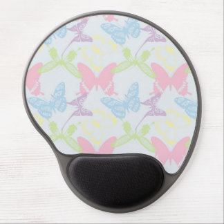 Pastel Butterfly Pattern Gel Mouse Pads