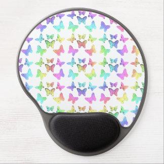 Pastel Butterfly Pattern Gel Mousepads