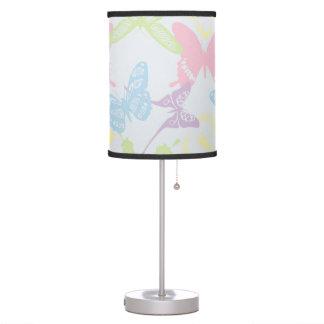 Pastel Butterfly Pattern Table Lamp