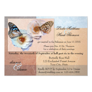 Pastel Butterfly Post or After Wedding Invitation