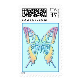 Pastel Butterfly Postage