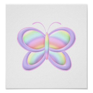 Pastel Butterfly Poster