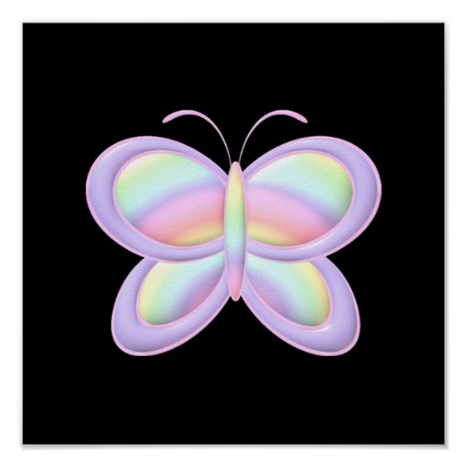 Pastel Butterfly Posters