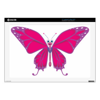 """PASTEL BUTTERFLY DECAL FOR 17"""" LAPTOP"""
