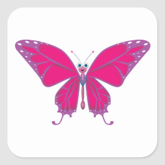 PASTEL BUTTERFLY SQUARE STICKER