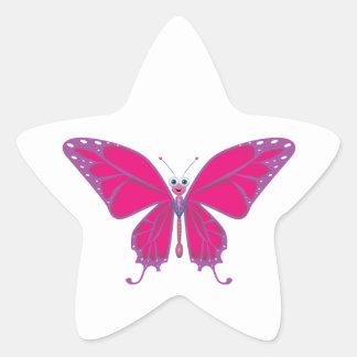 Pastel Butterfly Star Sticker