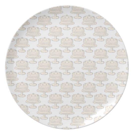 Pastel Cake Pattern. Dinner Plate